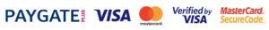 PAYGATE - VISA and mastercard verified logos